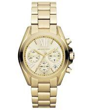 Micheal Kors Damen-Armbanduhr Analog Quarz Edelstahl MK5798 Gold Neu