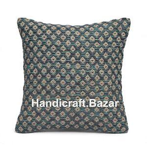 "Indian Kilim Cotton Cushion Cover Boho Decorative Handwoven Pillow Case 18x18"""