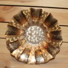Vintage metal footed bowl