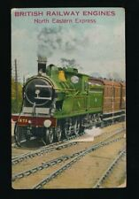 Railway North-Eastern express pocket novelty complete but faulty used 1925 PPC