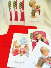 New listing Christmas Cards 14 Current Ruth or Bill Morehead Blessed Are Ye UNUSED w/ Env