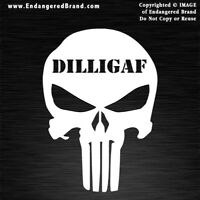 Punisher DILLIGAF Waterproof Vinyl Sticker Decals