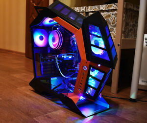 Darkflash ATX desktop computer case DIY special-shaped personality style gaming