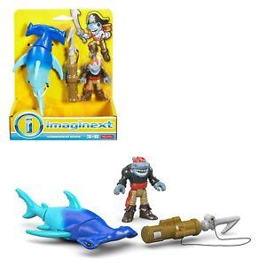 gioco giocattolo fisher price Imaginext Hammerhead squalo per bambini