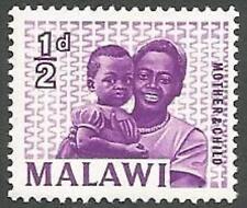 Malawi Scott# 5, Mother and Child, ½p, Unused, FG, Hinge Mark, 1964