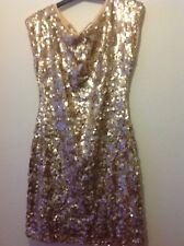 Ladies TFNC, London Gold Sequin Party Dress size M