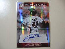 2012 Elite Back to the Future Justin Bour RC AUTO Rookie Autograph #ed 272/499