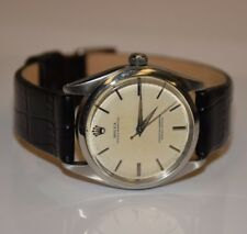 Rolex Watch 1002 Oyster Perpetual NO DATE with Black Leather Band