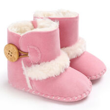 6Color Baby Girl Boy Winter Warm Plush Half Boots Infant Toddler Soft Sole Shoes