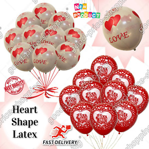 """12"""" I LOVE YOU Balloons Heart printed Ballons romantic party sweet room b'day UK"""