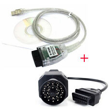 USB 20pin OBD2 II Cable Lead Ediabas INPA GT1 DIS SSS + Adapter Set for BMW