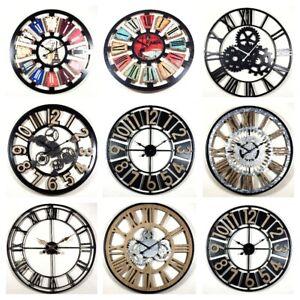 large diy wall clock vintage antique style retro home decor 30cm 40cm 50cm 60cm