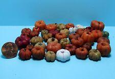 Dollhouse Miniature Fall Mix of Various Pumpkins / Gourds ~ SH532