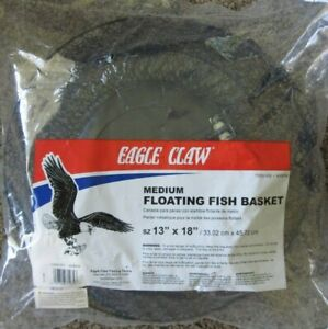 "EAGLE CLAW Floating Fish Basket - 13"" X 18"" - Black"