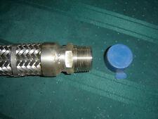 "New listing All Stainless Steel 30"" Braided Flexible Metal Hose 1"" Hex Mnpt x 1"" Mnpt T-304"
