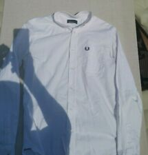 Fred Perry Oxford button down shirt M white langarm Hemd Casuals, Skinhead, Mod