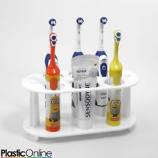 Electric Toothbrush Holder Toothpaste Holder 5x Toothbrush Stand White