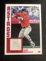 Alex Bregman 2019 Topps Series 2 1984 Anniversary White Jersey DIRTY Relic ASTRO