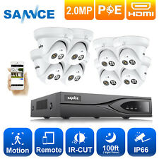 Sannce Full 1080P Ip Camera Security System 8Ch Poe Nvr 8x 2Mp Audio Recording