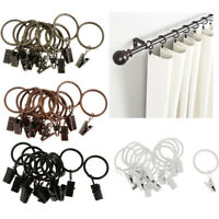 Set Of 12 Pcs 25mm / 32mm Antique Metal Curtain Rings With Clips & Eyelets