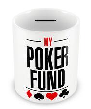 POKER Fund Money Box - Piggy Bank LADS Boys Gambler gift idea coin pot bank #90