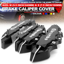 3D Universal Style Disc Brake Caliper Covers Front and Rear 4 Pcs Black WL01