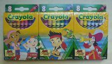 Crayola Jake & the Neverland Pirates set of 3-8 packs: Captain Hook, Izzy, Cubby