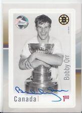 2017 Canada Post Hockey Stamp/ Card AUTOGRAPH  BOBBY ORR AUTO COA Hologram SP