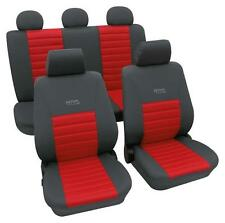 Sports Style Car Seat Covers - Grey & Red - For Mazda 929 Mk Iii 1987-1991