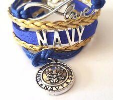 US Navy Infinity Love Bracelet with Charm