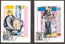 Vatican City Sc# 908-9: Death of St. Giuseppe Cottolengo, 2 Maxi Cards