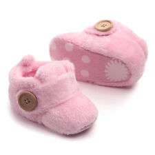 Lively Baby Boy Girl Cotton Lined Warm Boots Crib Shoes Prewalker Soft Sneakers