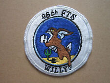 96th Flying Training Squadron Willy USAF Woven Cloth Patch Badge