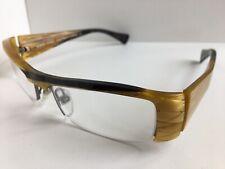 New ALAIN MIKLI AL07570021 54mm Yellow Semi-Rimless Eyeglasses Frame