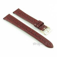 StrapsCo Yellow Gold Buckle Crocodile Leather Watch Band Strap for Men or Woman