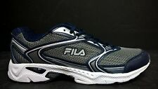 FILA Men's Size 8 EXTENT 2 Running Shoes, 0120614V, Gry / Blu / Silv