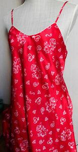 Nuisette ETAM 38/40 rouge motifs anges et coeurs