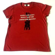 New listing Anvil Cheerleading Graphic T Shirt Womens Size L Maroon Red Short Sleeve Cotton