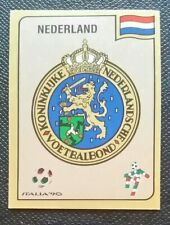 1990 PANINI ITALIA 90 ORIGINAL UNUSED NETHERLANDS  BADGE STICKER #401