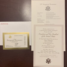 Jan. 20, 2021 Inauguration Ticket Biden Harris Invitation Program Official