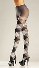 BE WICKED FASHION FULL LENGTH PANTYHOSE WOMEN'S ARGYLE PATTERN STOCKINGS TIGHTS