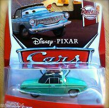 Disney PIXAR Cars RUSTY RUST-EZE on 2013 RUST-EZE RACING THEME CARD diecast 3/8