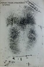 """JIM DINE """" Imprint from Dorian Gray's Stomach """" 1963 HAND SIGNED 181/200 Etching"""