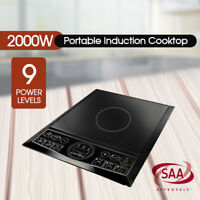 2000W Electric Induction Cooktop Portable Single Cooker Kitchen Hot Plate AU