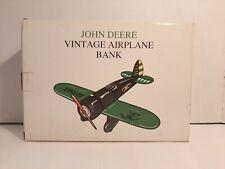 Spec Cast John Deere Diecast Vintage Airplane Bank in Box  NOS  #40019