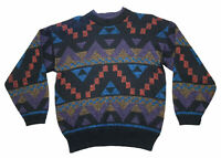 Vintage Multicolored Michael Gerald Ugly Retro Cosby Knitted Sweater Mens Size M