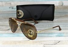 RAY BAN RB3422Q 9041 Aviator Craft Leather Brown Brown 58 mm Men's Sunglasses