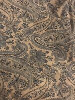 Ralph Lauren - Gorgeous Paisley Flat Sheet, Blue & White