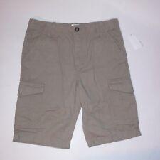 Route 66 Boys Cargo Shorts Size 14 Solid Beige Khaki
