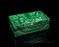 Jewelry box made of malachite 95*50*33mm, 185гр.